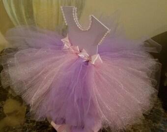 Lavender And Pink Baby Shower / TuTu Centerpiece / Double Sided Pink And  Lavender TuTu Centerpiece