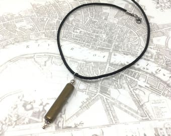 Thames River Clay Pipe Stem Pendant