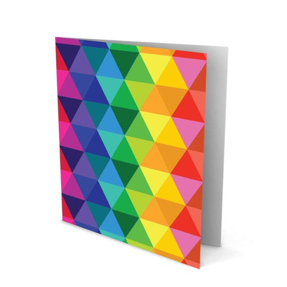 Triangular Shapes the color of the Rainbow Greeting Card