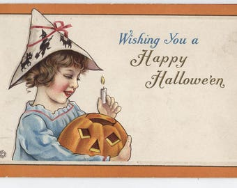 Halloween, Vintage Halloween post card, paper ephemera