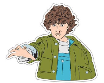 Eleven Stranger Things Sticker