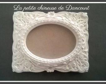 Plaster rectangle baroque frame
