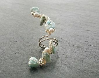 Faux Piercing - Conch Ear Cuff - Faux Piercing Jewelry - No Piercing Ear Cuff - Fake Conch Ring