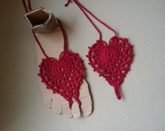 Heart foot jewelry