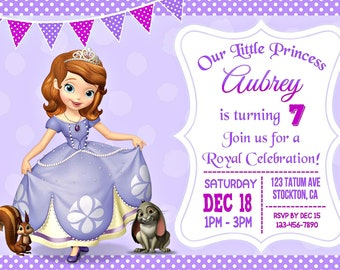 Sofia the first invitation etsy quick view sofia the first invitation stopboris Gallery