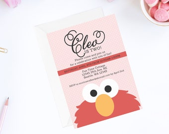 Elmo Birthday Invitation Elmo Birthday Party Sesame Street