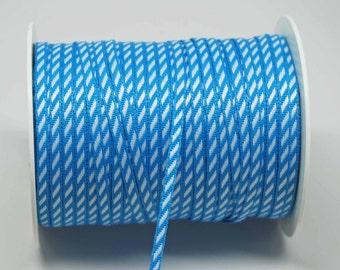 Solid Diagonal Stripe Ribbon -- 1/8 inch -- Medium Blue