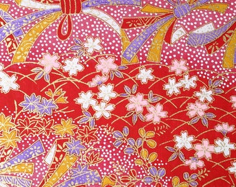 Japanese Finest Yuzen Washi Chiyogami Origami Paper Large sheet - Pink and White Cherry Flowers - approx 630mm x 945mm