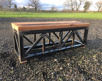 THE TRUSS BENCH handmade industrial style bench