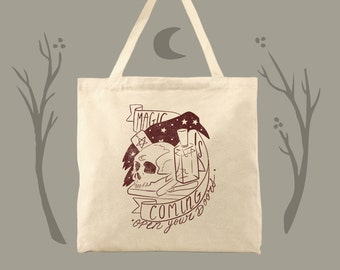 magic is coming jonathan strange and mr. norrell fan tote