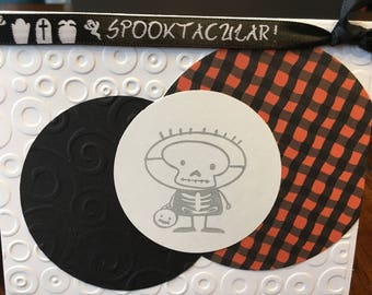 Halloween cards - set of 3 with envelopes