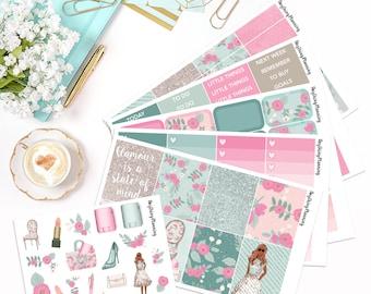Glam Girl - Deluxe Weekly Kit   Erin Condren Vertical Life Planner Stickers