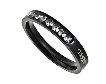 "Ebony Princess Ring ""I Know"""