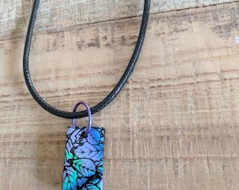 Leaf Glass Tile Necklace