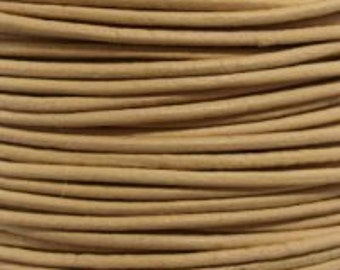 Round Leather Cord 3mm Peach 1 Meter