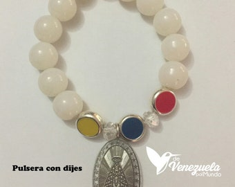 Venezuela virgin bracelet/bracelet/Dije and flag colors