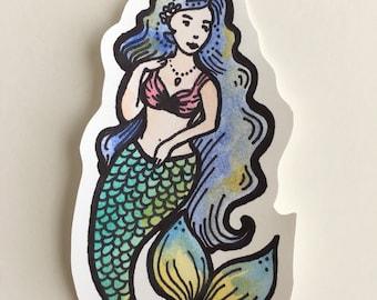 Mermaid Sticker (pin-up inspired)