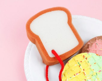 Breakfast Toast Bath Sponge, Loofah, Kawaii, Soap Sponge, Bath and Body, Gift Ideas