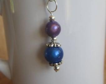 Reflective Purple and Blue Pendant