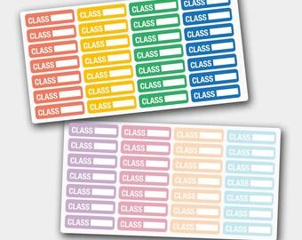 Class Stickers, Class Planner Stickers, Class Schedule Stickers, Class School Stickers, Planner Stickers