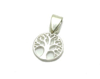 PE001208 Sterling silver pendant Tree of life Solid 925 Charm