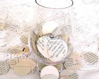 Buch Seite Konfetti - 1 Inch Kreise für Hochzeiten - Foto Requisiten - Partei Konfetti - Tischdeko, Scrapbooking, Kartengestaltung - 250 zählen