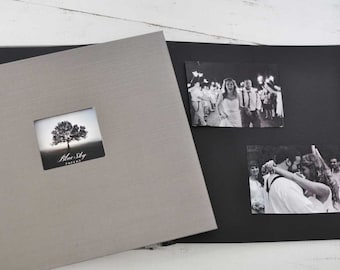 "Post-bound Photo Album with Black Pages 12""x12"" - by Claire Magnolia"