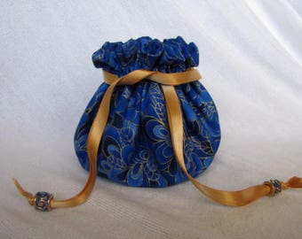 Jewelry Bag - Medium Size - Traveling Jewelry Pouch - Drawstring Tote - SPELL BOUND