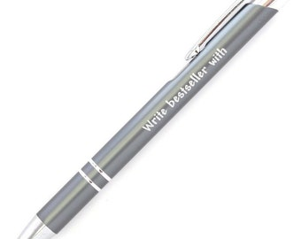 Gifts for Writers ~ Pen ~ Stationery ~ Write Bestseller With ~ Author ~ Novelist ~ Journalist ~ Writer ~ Literary Gift ~ NaNoWriMo