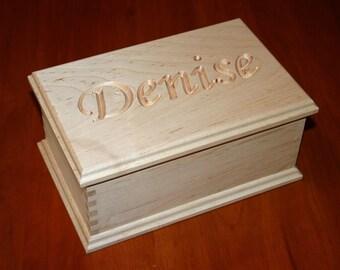Personalized Engraved Keepsake Box