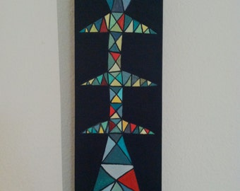 High Tension Pole Acrylic Painting on Wood