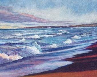 Seaside Blues (Beachscape) - Original Acrylic Painting