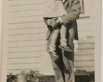 "Vintage Photo ""Her Favorite Uncle"" Snapshot Antique Black & White Photograph Paper Found Ephemera Vernacular Interior Design Mood - 56"
