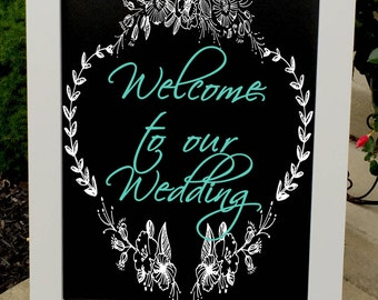 Wedding Welcome Sign - Wedding Sign - Wedding Chalkboard - Wedding Signs -  Rustic Wedding Sign - Wedding Decor - Design Your Own