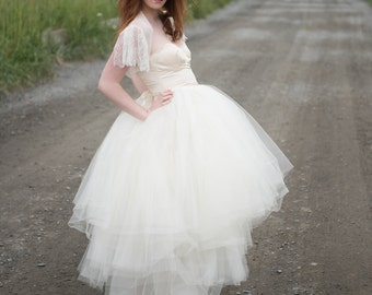 Tulle Skirt // Bridal Separates // for two piece wedding dress // short, long or tea length // Tulle Wedding Dress