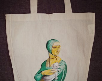 Lady in green, Personalised, Lady with an Ermine, gift