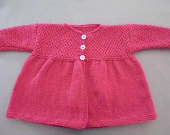 Gilet/veste/paletot bébé 12 mois tricoté main