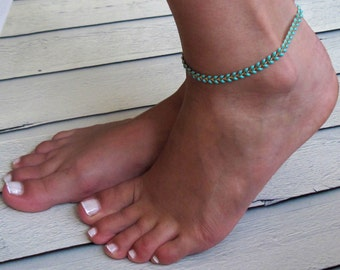 Turquoise Anklet - Turquoise Ankle Bracelet - Arrow Anklet - Foot Jewelry - Foot Bracelet - Anklets  For Women - Summer Jewelry - Beach