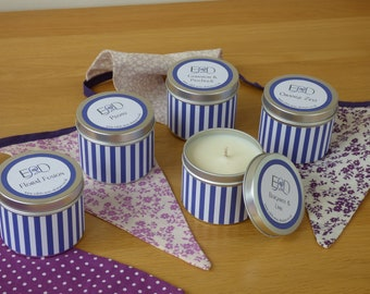 Scents of the Sea'-  Soy Wax Candle Tin - 7.5cm (D) - 20 hour burn time
