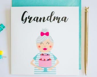 Grandma birthday greeting card