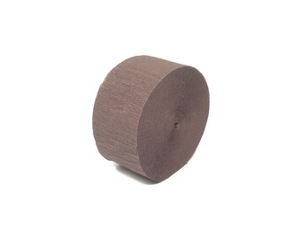 Brown Crepe Paper Streamer Roll - 81 Feet Long - Paper Craft Party Supplies