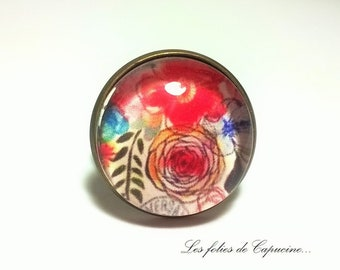 cabochon glass in FOLIE• •FLEURS