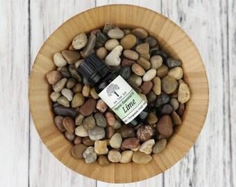 Organic Lime Essential Oil • Therapeutic Grade • Pure • Uncut • Citrus • 10 ml With Dropper Caps • USA •