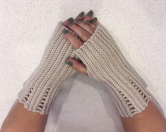 Crochet Pattern - Fingerless Gloves