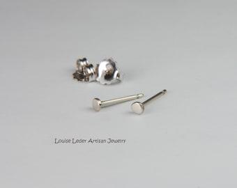 White Gold Earrings Small Studs 14K White Gold Stud Earrings White Gold Studs White Gold Jewelry