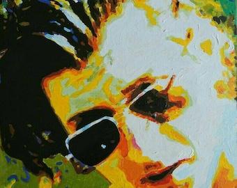 Acrylic portrait of Alex Turner