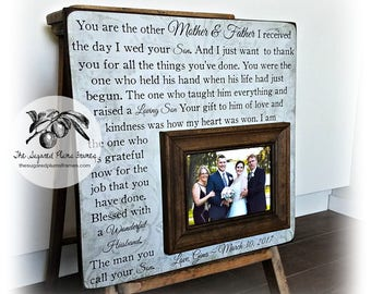 Mother of the Groom Gift, Wedding Gifts For Parents, Parents of the Groom Gift, 16x16 The Sugared Plums Frames