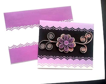 Quilling Card / Birthday Greeting Card etc .