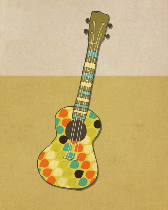 Home Decor Wall Art Music Poster // Righteous Uke series //
