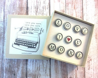 Typewriter key pushpins